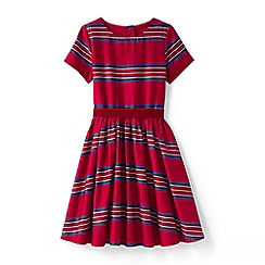 Lands' End - Red girls sateen twirl dress