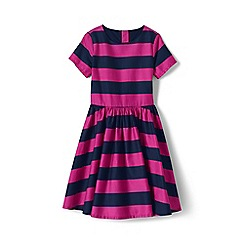 Lands' End - Pink girls' sateen twirl dress