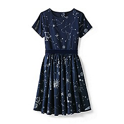 Lands' End - Blue girls' sateen twirl dress