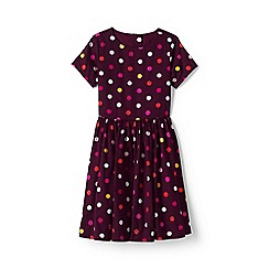 Lands' End - Black girls' sateen twirl dress
