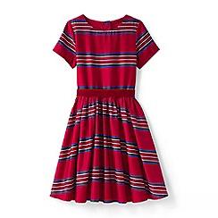 Lands' End - Red girls' sateen twirl dress