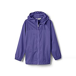 Lands' End - Purple girls' navigator packable rain coat
