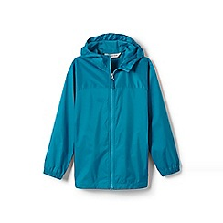 Lands' End - Blue girls' navigator packable rain coat