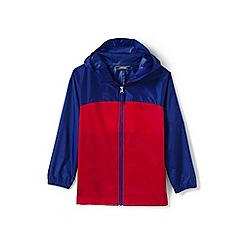 Lands' End - Boys' blue navigator packable rain coat