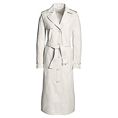 Lands' End - Cream long trench coat