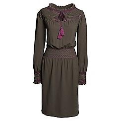 Lands' End - Brown daphne smocked dress