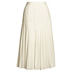 Lands' End - White pleated midi skirt