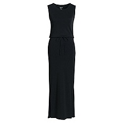 Lands' End - Black sleeveless maxi dress