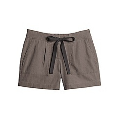 Lands' End - Brown linen/cotton shorts