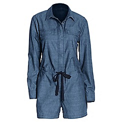 Lands' End - Blue chambray short playsuit