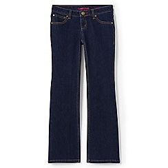 Lands' End - Girls' blue 5 pocket bootcut jean