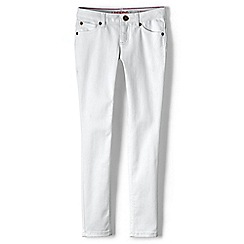 Lands' End - Girls' white skinny jeans