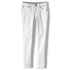 Lands' End - Girls' white skinny jeans