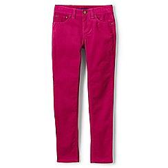 Lands' End - Girls' pink 5-pocket skinny cords