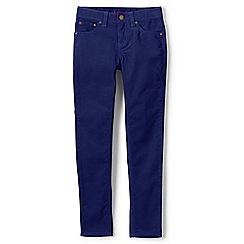 Lands' End - Girls' blue 5-pocket skinny cords
