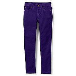 Lands' End - Girls' purple 5-pocket skinny cords