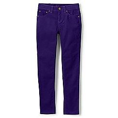 Lands' End - Girls' purple 5-pocket skinny cords