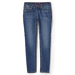 Lands' End - Girls' blue 5 pocket skinny jeans