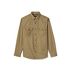 Lands' End - Beige regular field shirt