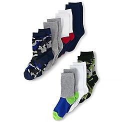 Lands' End - Multi 7-pack patterned socks