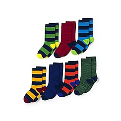Lands' End - Boys' multi 7-pack patterned socks