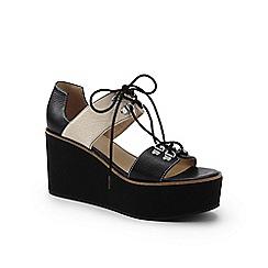 Lands' End - Black laced platform sandals
