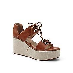 Lands' End - Brown laced platform sandals