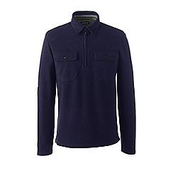 Lands' End - Blue regular brushed half-zip pullover