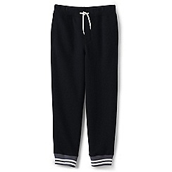Lands' End - Boys' black cuffed sweatpants