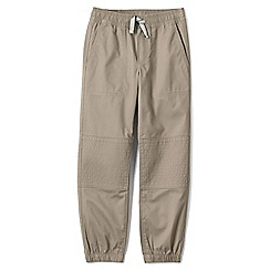 Lands' End - Beige boys' iron knee woven joggers