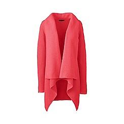 Lands' End - Orange Plus Size linen/cotton shaker cardigan