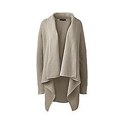 Lands' End - Beige petite linen/cotton shaker cardigan