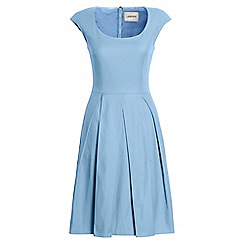 Lands' End - Blue cap sleeve pleat front dress