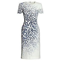 Lands' End - White print short sleeve a-line dress
