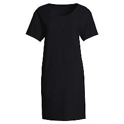 Lands' End - Black crepe t-shirt dress