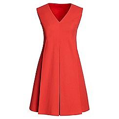 Lands' End - Orange pique pleat front dress