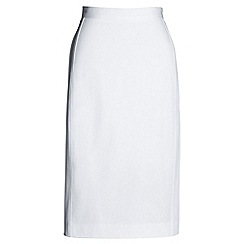 Lands' End - White pencil skirt