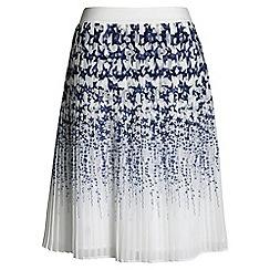 Lands' End - White pleated star skirt