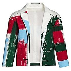 Lands' End - White brush stroke jacket