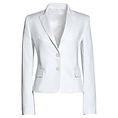Lands' End - White cropped refined blazer