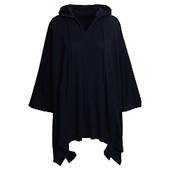 Lands' End - Blue cotton/cashmere hooded poncho