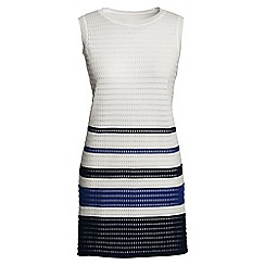 Lands' End - Multi sleeveless striped textured tunic