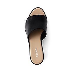 Lands' End - Black fringed platform sandals