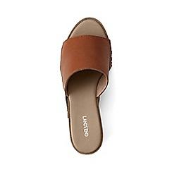 Lands' End - Brown fringed platform sandals