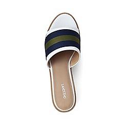 Lands' End - White two-tone platform sandals