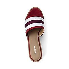 Lands' End - Red two-tone platform sandals