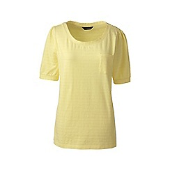 Lands' End - Gold elbow sleeve jacquard top