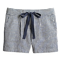 Lands' End - Blue striped linen/cotton shorts