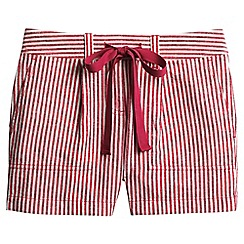 Lands' End - Red striped linen/cotton shorts