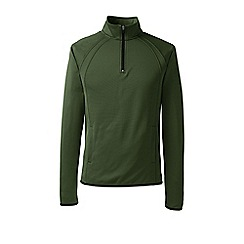Lands' End - Green sport fleece half-zip pullover